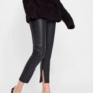 Zara faux leather leggings.